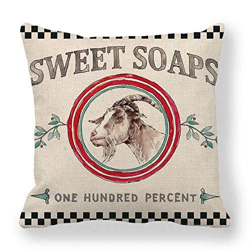 LPLH Cow and Mutton Big Head Paste Linen encryption Fine Linen Hug Pillowcase Cushion Cover Modern Minimalist Style Ym247-3_45*45cm