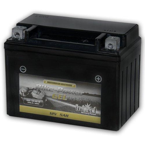 Intact Motorrad Batterie Gel 12 V 4 AH (50411 / CB4L-B) - Alternativ: YB4L-B - CB4L-B - CBT4L-Bs