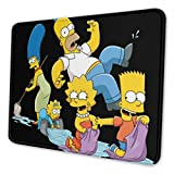 The Simpsons Computer Mouse Pad with Non-Slip Rubber Base Premium-Textured Stitched Edges Mouse Pads for Computers Laptop Office & Home