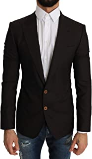 Dolce & Gabbana Brown Wool Sicilia Jacket Coat Blazer - brown - IT44 | X-Small