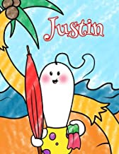 Justin: Personalized Children's Coloring Book, Ima Gonna Color My Day at the Beach