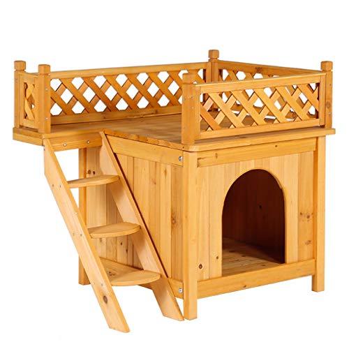 cuccia cane 2 piani Gabbia per Gatti in Legno Massello Casetta per Gatti da Esterno Struttura per Arrampicata per Gatti A Due Piani Cuccia per Cani in Legno Cuccia per Animali A Due Piani