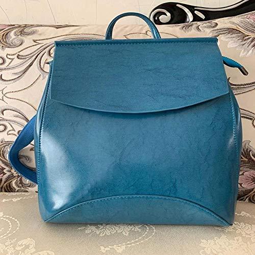 WZSCH Women backpacks, handbags, shoulder bags Fashion Women Backpack High Quality Youth Leather Backpacks for Teenage Girls Female School Shoulder Bag mochila seablue