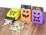 Cymax 50 Stück Halloween Geschenktüten mit Aufkleber,Halloween Partytüten Candy Papier für Halloween Supplies,Geburtstag,Party - 5