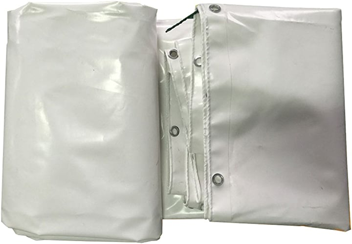 LIYFF Camion de bache imperméable à la poussière de Bateau Couvert de Tissu de Toit de Voiture de Toit de Couverture de Pluie de Tente de bache de Camping de Tente, Options de Multi-Taille (Blanc)