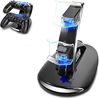 Likorlove PS4 Controller Charger, Dual-controller Oplaadstation stand voor Sony Playstation 4 / PS4 Pro / PS4 Slim Draadlo...