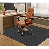 Sawfurnt床保護マット160×140cm チェアマット ゲーミングチェアマット デスクマット カーペット 椅子マット フロアマット 傷防止 フローリングマット 滑り止め吸音 足元マット カット可能