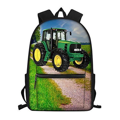 Stampa 3D, strade di campagna, trattori, macchine agricole, borsa da scuola per...