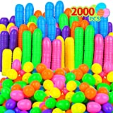 Evoio 2000 Plastic Easter Eggs, Hinged...