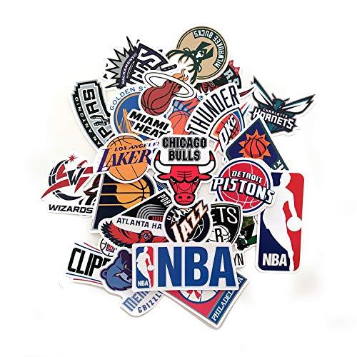 32 Aufkleber für Basketball, Aufkleber für Basketball, NBA, Aufkleber Lakers, Chicago Bulls, Orlando Magic oder mehr