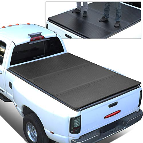 Replacement for 09-18 Ram Truck 5.8Ft Short Bed FRP Hard Solid Tri-Fold Tonneau Cover