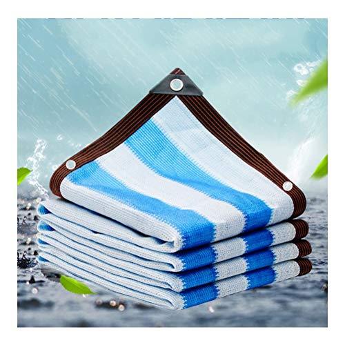 GHHZZQ Filet d'ombrage Voiles d'ombrage Rayures Bleues Et Blanches Rayons UV et Tissu Imperméable Ombre Crème Solaire Balcon Plante Fleurs, Personnalisable (Color : A, Size : 8x10m)