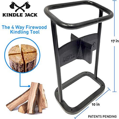 EasyGoProducts Jack Axe Wedge Firewood Kindling Tool Cuts 4 Ways – Wood Log Cracker...