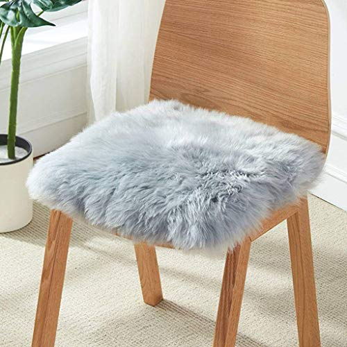 XMJG Portable Woollen Seat Cushion, Warm Comfortable Chair Cushion Easy Care For Winter Office Chair Sofa Cushion-40x40cm(16x16inch)-gray