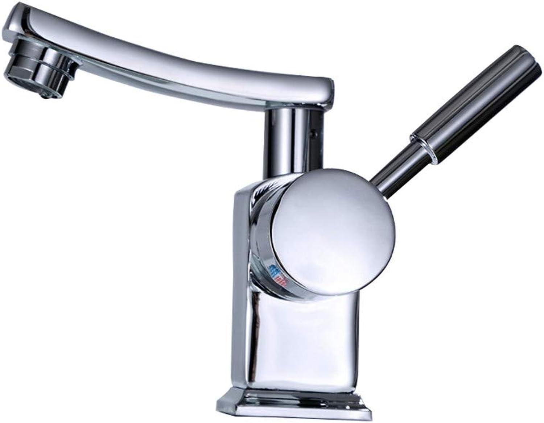 CWXDIAN Faucet copper 360 degree redating basin faucet basin faucet hot and cold faucet, faucet