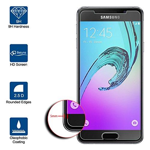 Beiuns Vetro temperato Protettiva Protezione protettore Proteggi Schermo per Samsung A3 2016
