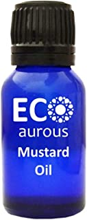 Mustard Oil 100% Natural, Organic & Vegan Mustard Essential Oil | Pure Mustard Oil By Eco Aurous (1.01 OZ, 30 ML)