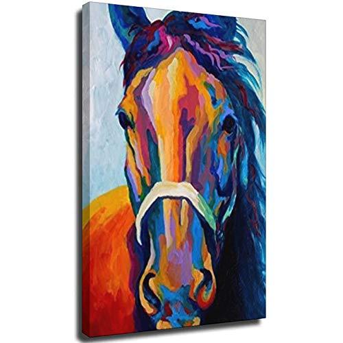Pferde-Kunstdrucke auf Leinwand, Tiergemälde für Heimdekoration, Pferde-Muster, ohne Rahmen, 70 x 100 cm