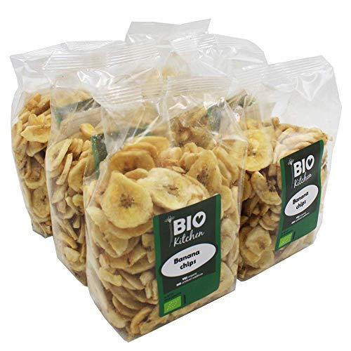 BioKitchen - Chips de plátano ecológico (6 envases de 250 g)