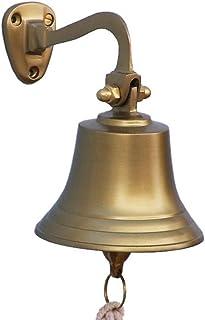 """Hampton Nautical BL-2050-5AN 3Xglass-101 Antique Brass Hanging Ship's Bell 6"""" - Nautical Bell - Nautical Decor"""