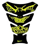 BIKE-label 502860-VA - Protector para depósito de moto con ojos malvados y ojos malvados, color amarillo neón