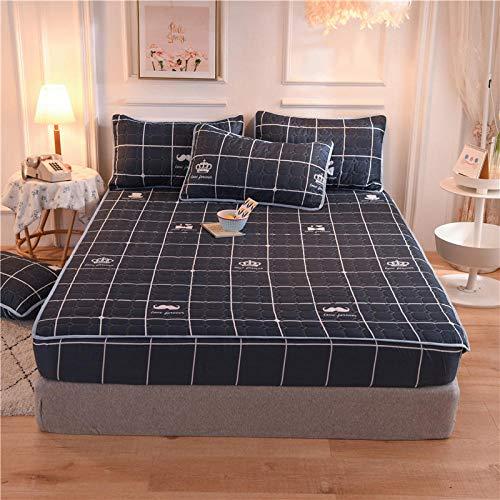 N / A Passt Spannbettlaken,für hohe Matratzen,Einzelne Gesteppte Spannbetttücher,...