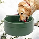 DEOMAN Heated Dog Bowl Outdoor pet Thermal-Bowl Provide Drinkable Water in Sub-Freezing Temperature for Cats, Rabbit,Squirrels,Chickens