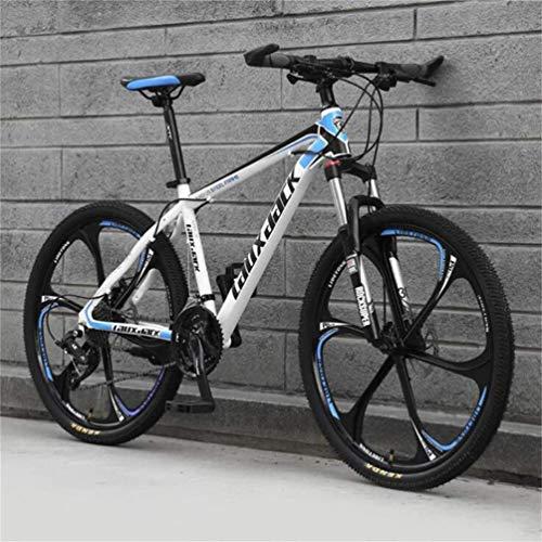 AUTOKS 26 Pouces vélo de Montagne Adulte Frein à Disque Double Vitesse Hors Route vélo Hommes et Femmes (Couleur: frêne Noir, Taille: 24 Vitesses)