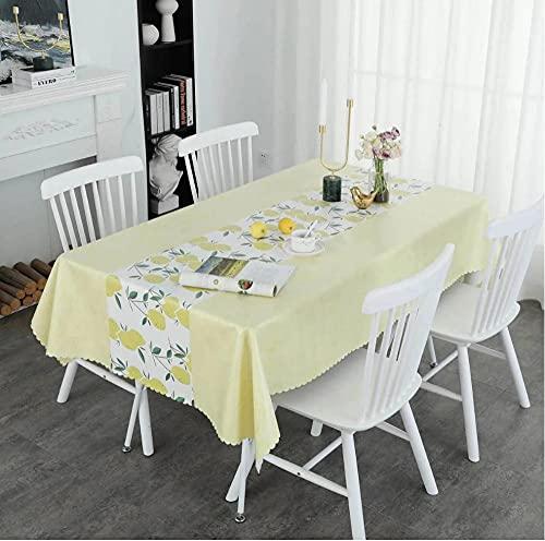 Nappe Nappe imperméable et résistante à l'huile Nappe rectangulaire Table à Manger Couverture cheminée comptoir-1 140X220Cm