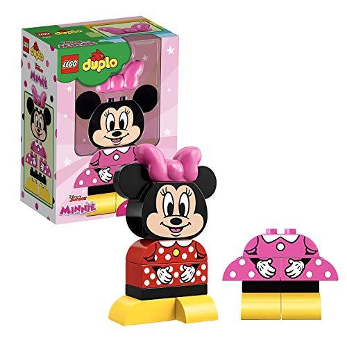 LEGO 10897 DUPLO Disney Meine erste Minnie Maus, Bauset mit 2 baubaren Outfits, Vorschulspielzeug für Kinder ab 2 Jahren