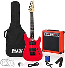 LyxPro 36 Inch Electric Guitar and Kit for Kids with 3/4 Size Beginner's Guitar, Amp, Six Strings, Two Picks, Shoulder Strap, Digital Clip On Tuner, Guitar Cable and Soft Case Gig Bag