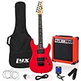 LyxPro 36 Inch Electric Guitar and Starter Kit Bundle for Kids with 3/4 Size Beginner's Guitar, Amp, Six Strings, Two Picks, Shoulder...