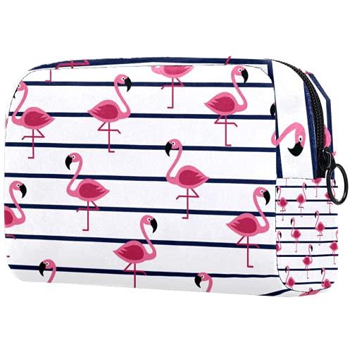 Bolsa de brochas de maquillaje personalizable, portátil, bolsa de aseo para mujer, organizador de viaje, corona blanca, cisne, hojas verdes, rosa