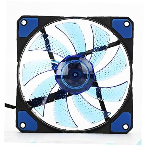 CPU Cooler, Ultra silencioso Alto Flujo de aire Silent CPU enfriadores LED Radiador de PC para caja de computadora CPU Enfriador Azul