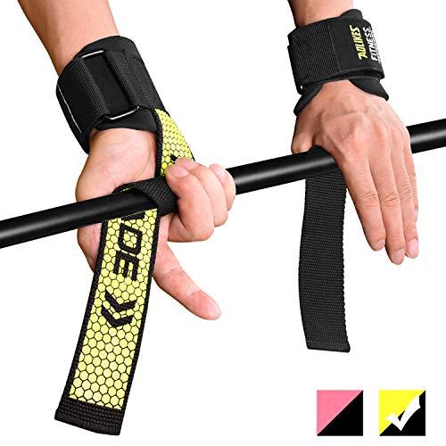 Fitself Zughilfen Herren Damen Handgelenkschutz Stabilität Lifting Straps für Fitness Gewichtheben...