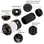 Sofirn blf lt1 lantern, led rechargeable camping lantern, 8x samsung lh351d leds powered by 4x 18650 batteries for… 14 usb-c charging port: lt1 comes with usb-c charging cable (adapter excluded). It accepts 5v 2a fast charging and can also be charged with a premium power bank or also be operated without batteries directly attached to the usb power adapter. While charging the button led glows red. It turns green once it get full charged. Quote: this product requires a usb-a to usb-c cable for charging (included). It cannot be charged with a usb-c to usb-c cable. Powered by 4x 18650 li-ion button top batteries with a maximum output of up to 600 lumens. Variable tint between warmwhite (2. 700k) and neutralwhite (5. 000k). Two selectable and configurable user interfaces with stepped ramping (discrete brightness levels) as default and smooth ramping (infinitely variable brightness) as alternative. Kindly read our manual for more details.