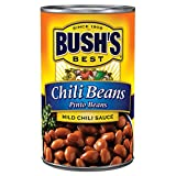 Bush's Mild Pinto Chili Beans are simmered in a mild chili sauce with chili pepper and garlic flavors Make your best chili even better and get that cooked-all-day flavor in just minutes with Bush's Chili Beans Naturally gluten-free and cholesterol-fr...