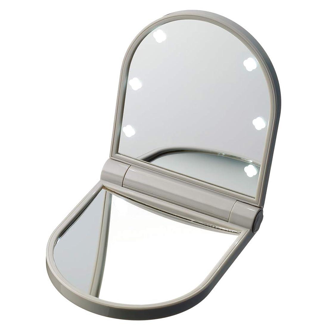 電気技師神シミュレートするKOBAKOシリーズ コスメティックミラー(約10倍拡大鏡?LEDライト付) W93210