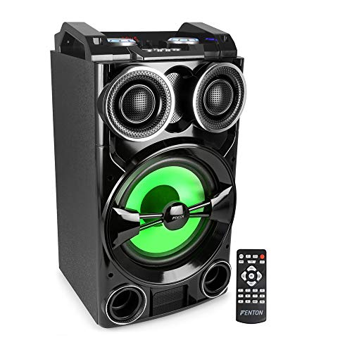 Fenton LIVE102 Bafle 300W Reproductor Multimedia USB/BT LED-RGB Mando a Distancia