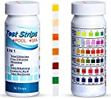 Faminess Pool and Spa Test Strips 6 Ways Swimming Pool Testing Strip Kit