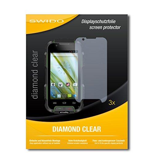 3 x SWIDO® Schutzfolie Simvalley Mobile SPT-900 V2 Bildschirmschutz Folie