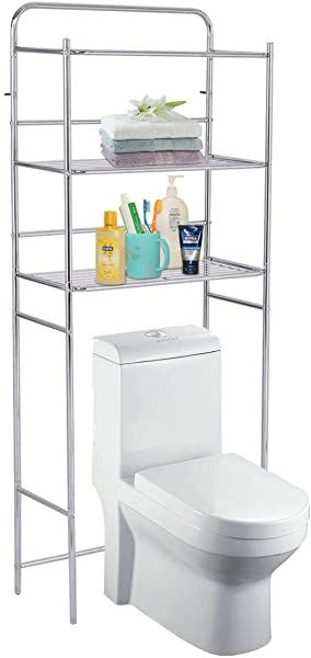 You Meshop Shelf Bathroom Storage Over The Toilet Space Saver Rack Organizer Chrome 3 Tier