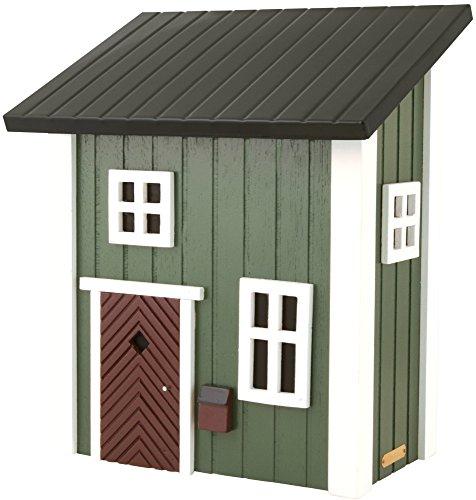 Wildlife Garden - Postkasten/Grün - Mail Cottage Green - Holz, Deckel aus Stahl - 320 x 210 x 390 mm