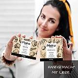 Meina Naturkosmetik – Schwarze Seife mit Aktivkohle ohne Palmöl, Naturseife gegen fettige und unreine Haut, Vegan, Handgemacht (1 x 100 g) - 2