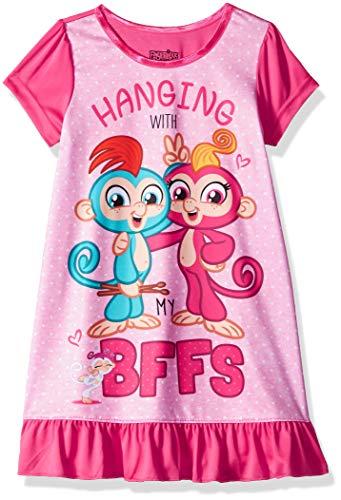 Fingerlings Girls' Little Nightgown, Pinky Pals, 6