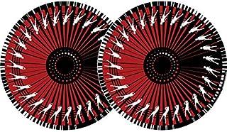 Zomo PAIRE DE FEUTRINES Rouge ZM62301 - Slipmat, color rojo