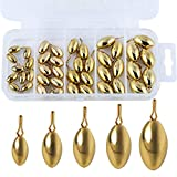 Sougayilang Fishing Weights Sinkers Kit 41pcs, Including 5 Sizes with Fishing Swivel Snaps and Tackle Box