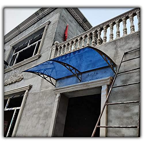 CDDQ Tejadillo de Protección Marquesina para Puertas y Ventanas Resistente a la Lluvia y al Viento,Tablero de PC Marrón 60 x 300cm,Proporcione 5 Colores de Soporte