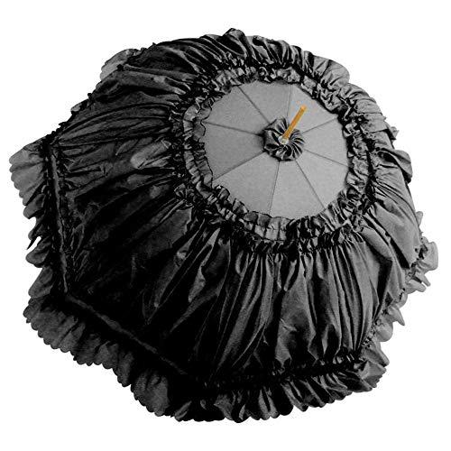 SHENTIANWEI Hochzeitsbedarf Braut Braut Regenschirm kreative rote spitzenschirm hochzeitsgeschenk Regenschirm Regenschirm Fotografie Requisiten (Color : Black, Size : 60cm*8K)