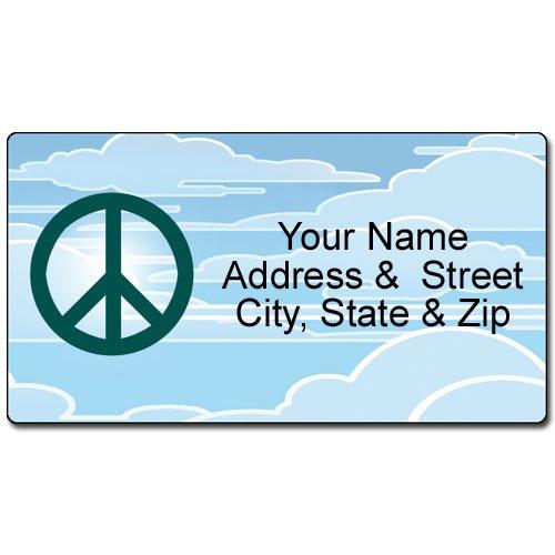 Peace Address Label - Customized Return Address Label - 90 Labels